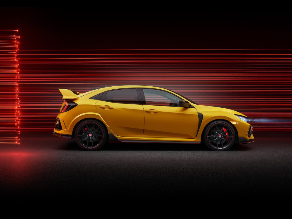 Side view of Honda Civic Type R Limited