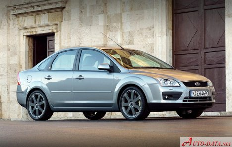 Ford Focus II Sedan 1.6 Duratec 16V (100 Hp) Automatic - Tekniske data, Forbruk, Dimensjoner