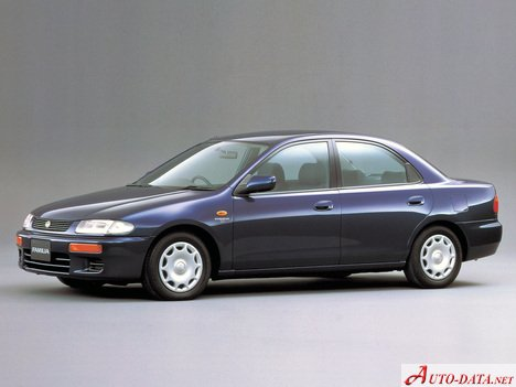Mazda Familia 1.5 i (110 Hp) - Technical Specs, Fuel consumption, Dimensions