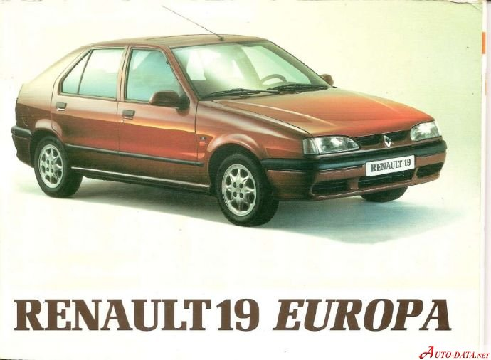 renault 19 technical specifications fuel economy. Black Bedroom Furniture Sets. Home Design Ideas
