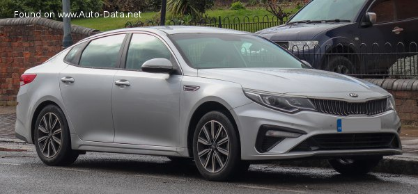 Kia Optima IV (facelift 2018) 2.0 GDI (192 Hp) Hybrid Automatic - Tekniske data, Forbruk, Dimensjoner