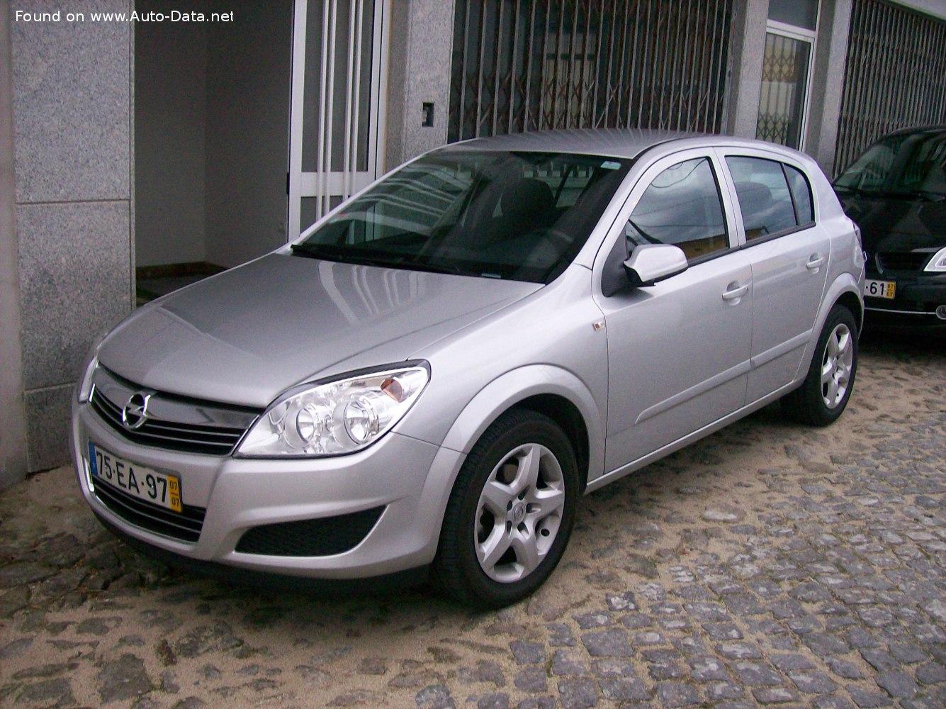 2005 Opel Astra H 1 7 Cdti 80 Hp Technical Specs Data Fuel Consumption Dimensions