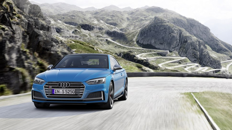 Audi S5 TDI 2019 - coupe blue front 2