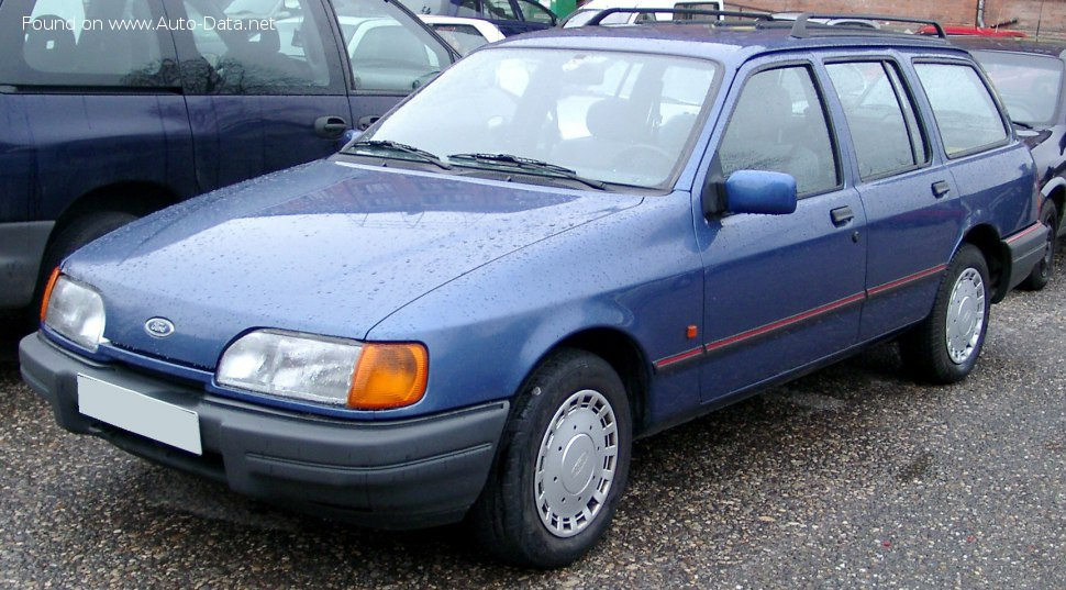 Ford Sierra Turnier II 1.8 (80 Hp) - Technical Specs, Fuel consumption, Dimensions