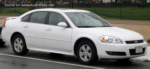 2009 Chevrolet Impala Ix 3 5 V6 211 Hp Flexfuel Automatic Technical Specs Data Fuel Consumption Dimensions