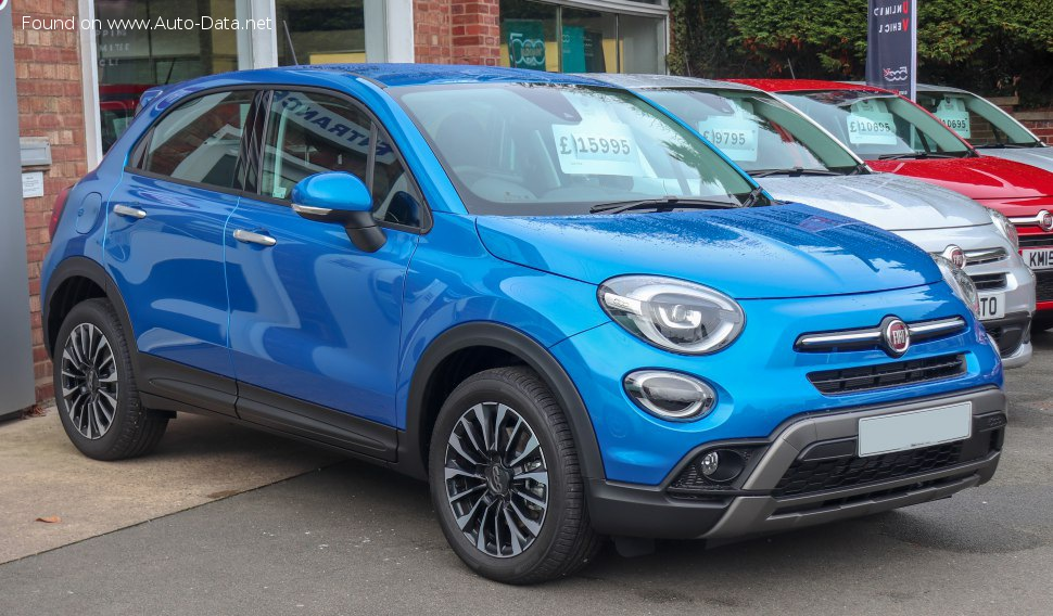 Fiat 500X Cross/City Cross (facelift 2019) 1.3 FireFly Turbo (150 Hp) - Tekniske data, Forbruk, Dimensjoner