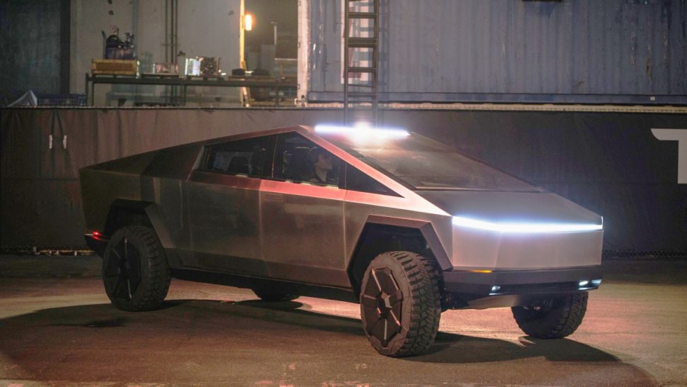 The unique Tesla Cybertruck