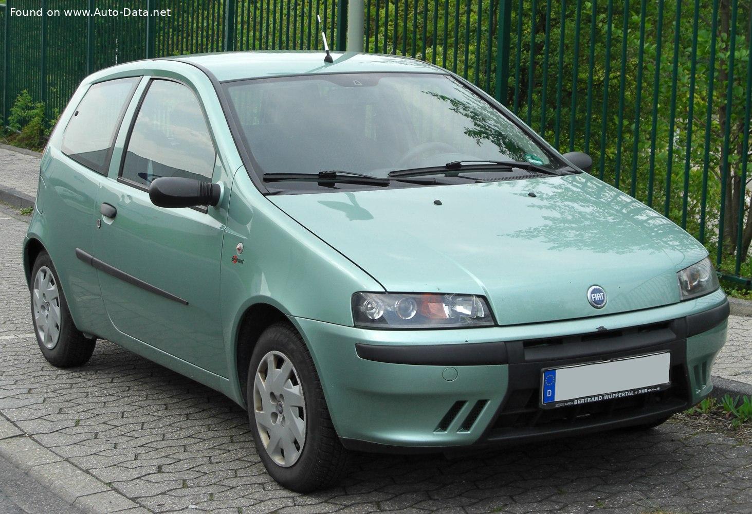 1999 Fiat Punto Ii 188 3dr 1 2 80 Hp Technical Specs Data Fuel Consumption Dimensions
