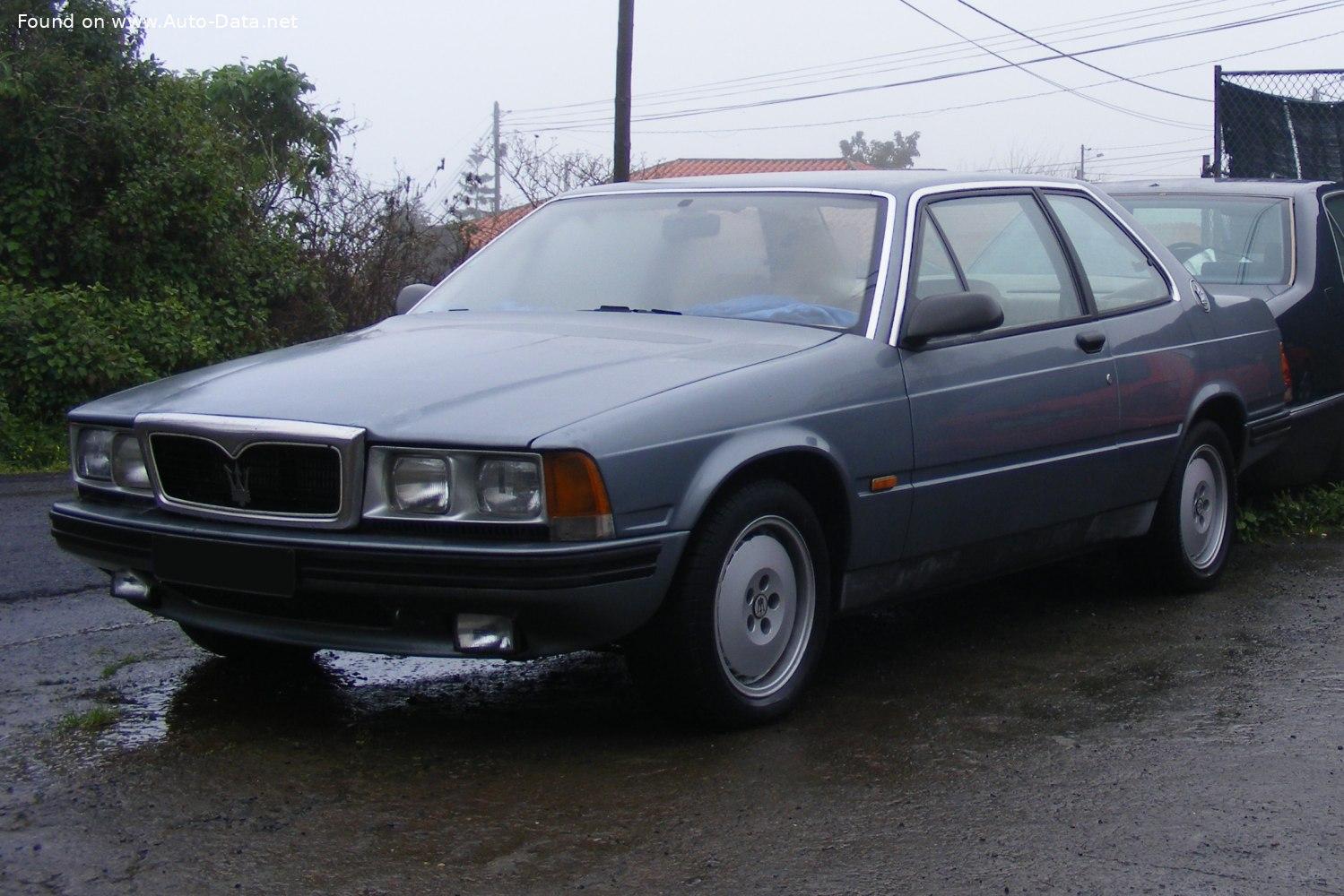 1986 Maserati 228 2.8 i V6 Turbo (225 Hp) | Technical specs, data, fuel consumption, Dimensions