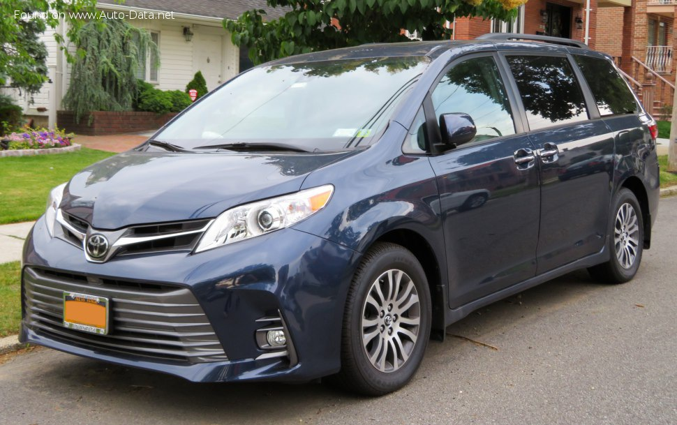 Toyota Sienna Dimensions >> Toyota Sienna Technical Specs Fuel Consumption Dimensions