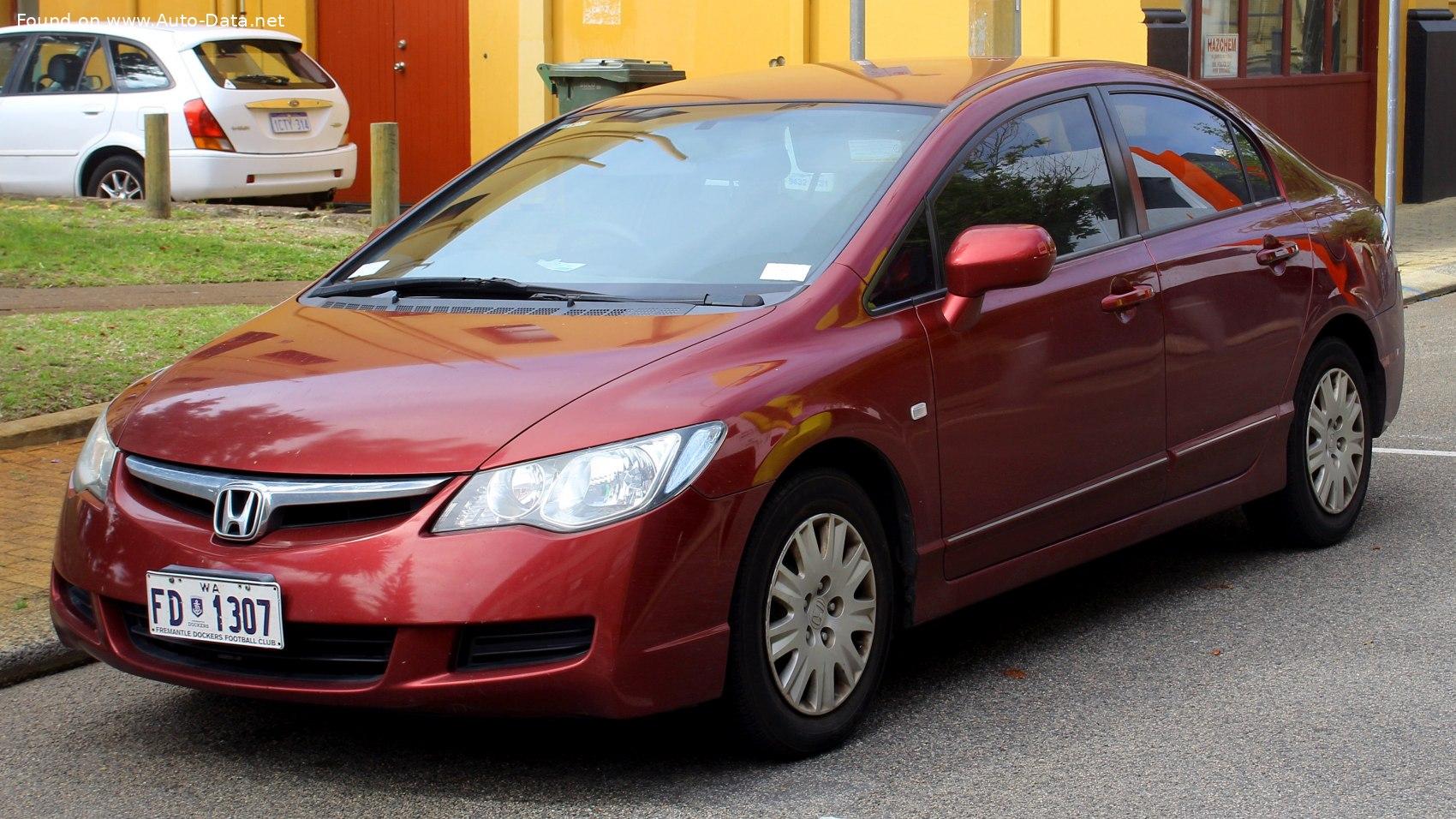 2006 Honda Civic Viii Sedan 1 8 I Vtec 16v 140 Hp Automatic Technical Specs Data Fuel Consumption Dimensions