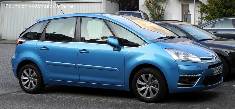 Citroen C4 I Picasso (Phase II, 2010) 2.0 HDI (150 Hp) EGS - Technical Specs, Fuel consumption, Dimensions