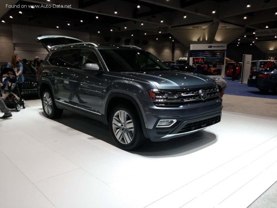 volkswagen atlas technical specs fuel consumption dimensions