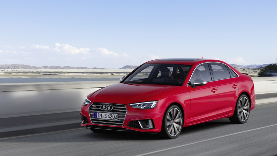 Audi S4 Sedan TDI 2019 red front side view