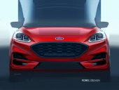 Ford Kuga 2020 sketch red