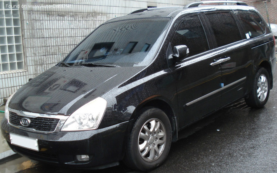 Kia Grand Carnival II (facelift 2010) 2.9 CRDi (185 Hp) Automatic - Technical Specs, Fuel consumption, Dimensions