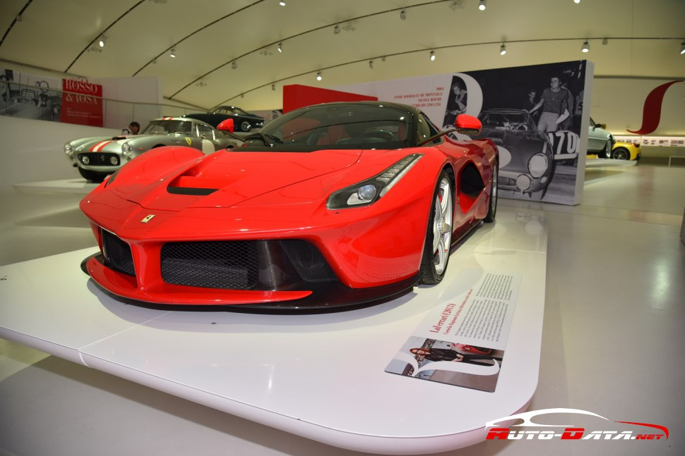 The outstanding Ferrari LaFerrari at Ferrari's museum in Modena