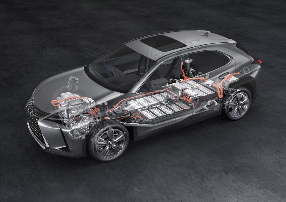 Lexus UX EV - battery pack architecture and possition