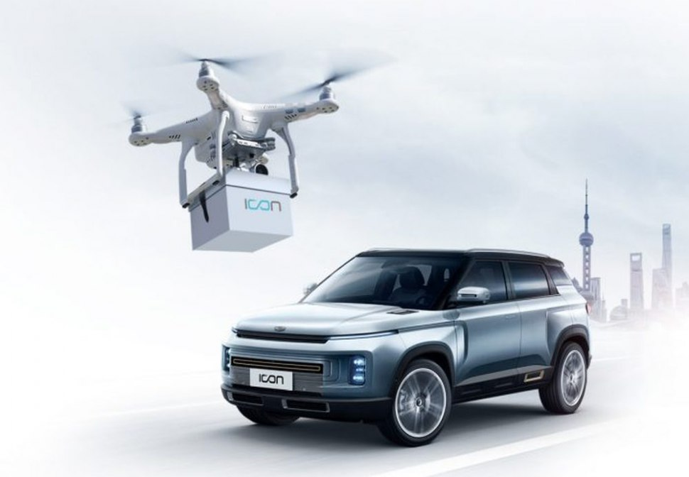 Geely Icon - contacless drone delivery of the car key