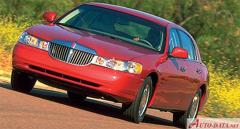 2001 Lincoln Town Car Iii Fn145 4 6 V8 238 Hp Technical Specs Data Fuel Consumption Dimensions