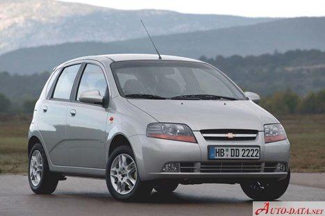 2008 Chevrolet Aveo Hatchback 3d 1 2 16v 84 Hp Technical Specs