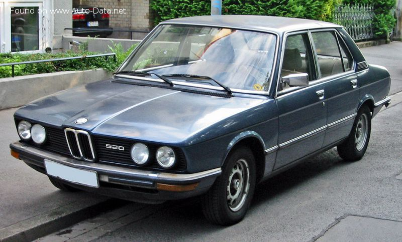 BMW 5 Series (E12, Facelift 1976) 528i (184 Hp) - Fiche technique, Consommation de carburant, Dimensions