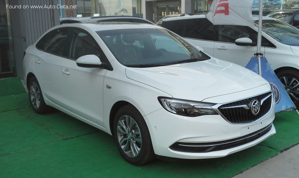buick - excelle iii (facelift 2018) - gt 18t (163 hp) automatic