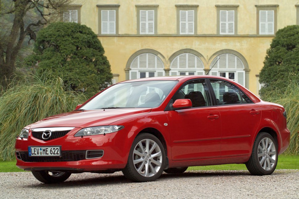 Mazda 6 I Sedan (Typ GG/GY/GG1 facelift 2005) 2.3 (166 Hp) - Technical Specs, Fuel consumption, Dimensions