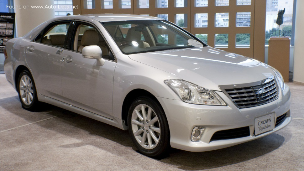 Toyota Crown Royal XIII (S200, facelift 2010) 3.0 i-Four V6 24V (256 Hp) 4WD Automatic - Technical Specs, Fuel consumption, Dimensions