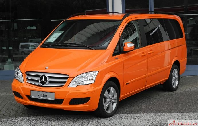 Mercedes-Benz Viano (W639 facelift 2010) CDI 2.2 4MATIC (163 Hp) Automatic - Tekniset tiedot, Polttoaineenkulutus, Mitat