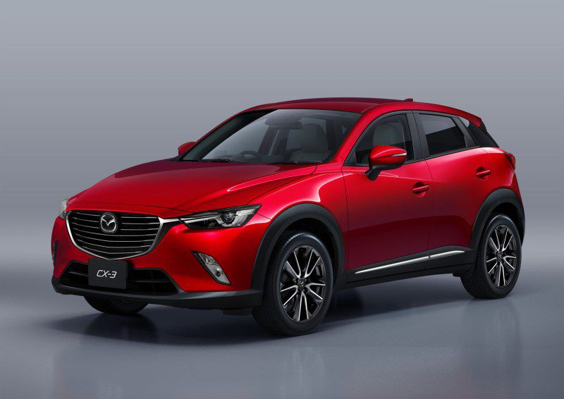 Mazda CX-3 2.0i (150 Hp) i-Eloop 4x4 - Fiche technique, Consommation de carburant, Dimensions