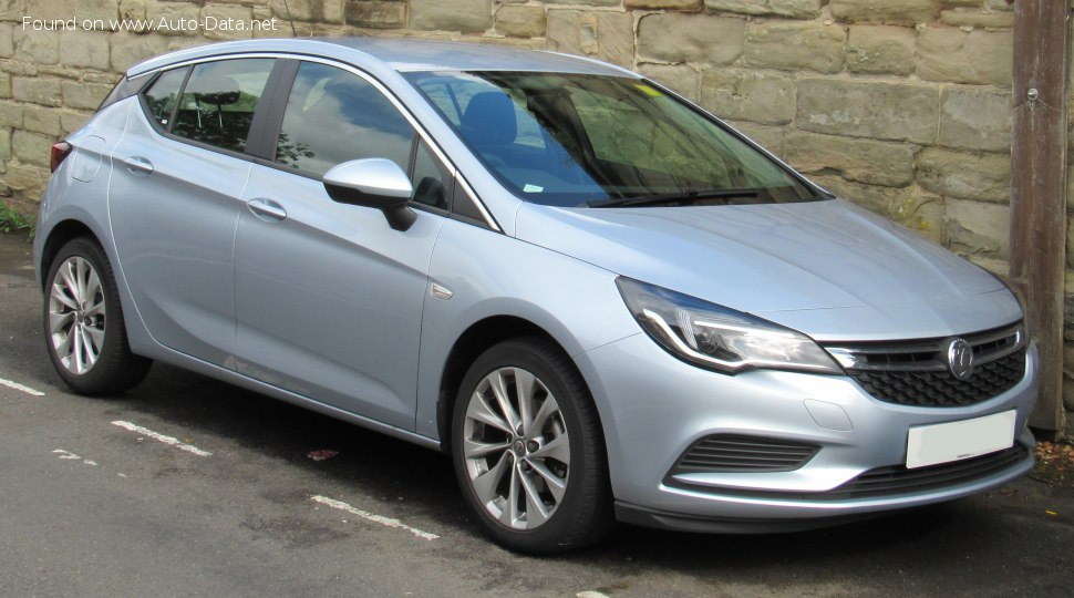 Vauxhall Astra Mk VII 1.4 (100 Hp) - Technical Specs, Fuel consumption, Dimensions