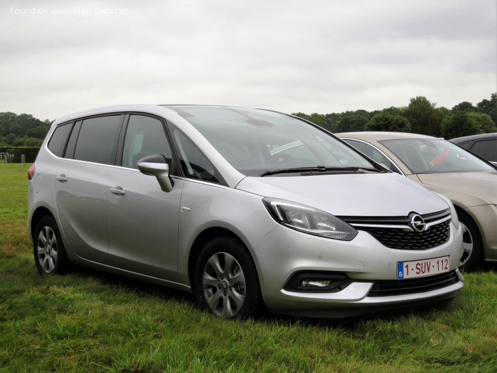 Opel Zafira Tourer C (facelift 2016) 1.4 ecoFLEX (140 Hp) Turbo 7 Seat - Fiche technique, Consommation de carburant, Dimensions