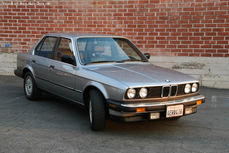 1986 Bmw 3 Series Sedan E30 325i 170 Hp Technical Specs Data Fuel Consumption Dimensions