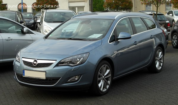 2010 Opel Astra J Sports Tourer 1 6 Turbo 180 Hp Technical Specs Data Fuel Consumption Dimensions