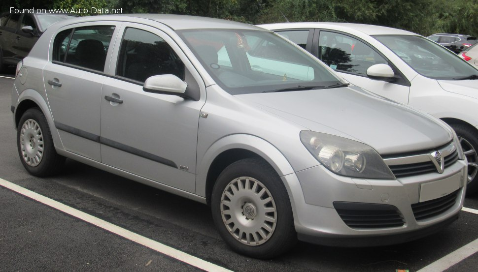 Vauxhall Astra Mk V CC 1.9 CDTi (120 Hp) Automatic - Technical Specs, Fuel consumption, Dimensions