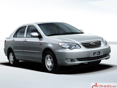 BYD F3 1.6 i (100 Hp) - Fiche technique, Consommation de carburant, Dimensions
