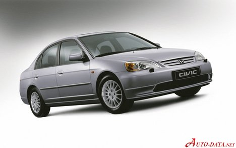 Honda Civic Dimensions >> Honda Civic Vii 1 6i 16v 110 Hp Technical Specs Data