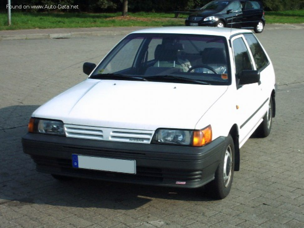 Nissan Sunny II Hatchback (N13) 1.6 i 12V (90 Hp) - Technical Specs, Fuel consumption, Dimensions