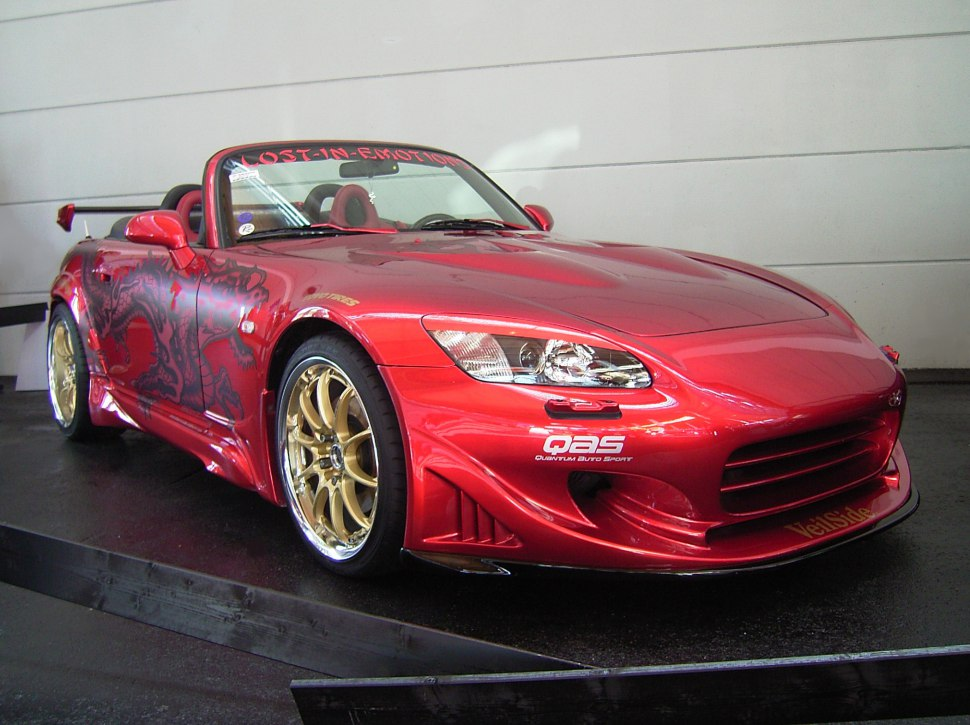 Passionate red Honda S2000 sports car