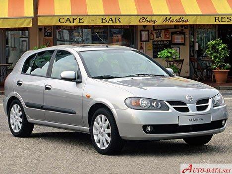 nissan - almera ii hatchback (n16) - 1.8 (114 hp) - technische daten