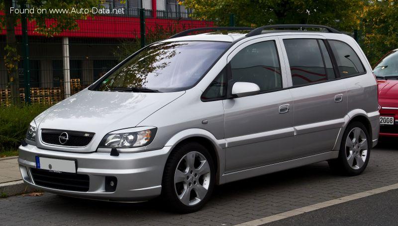 2003 Opel Zafira A Facelift 2003 2 0 16v Dti 101 Hp Ficha