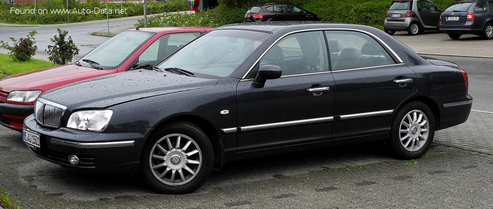 Hyundai Grandeur III (XG, facelift 2003) 3.0i V6 (182 Hp) Automatic - Technical Specs, Fuel consumption, Dimensions