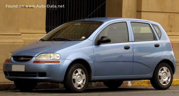 2004 Chevrolet Aveo Hatchback 1 4 I 83 Hp Technical Specs Data Fuel Consumption Dimensions