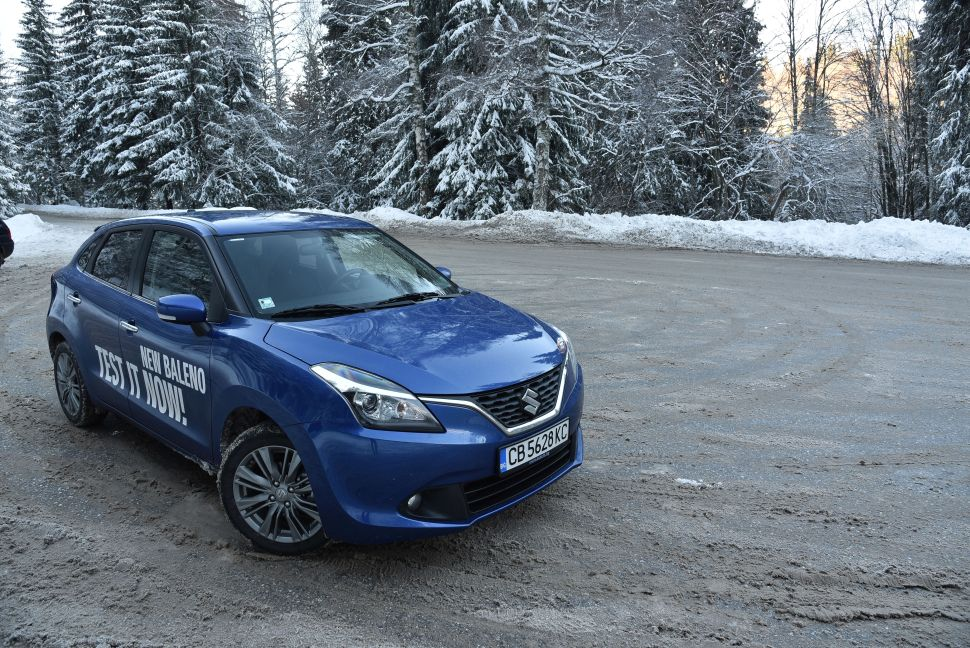 Test drive of Suzuki Baleno 2015