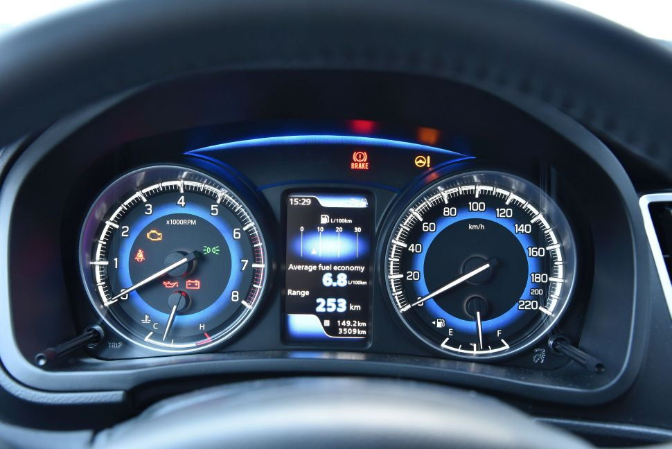 Dashboard of the Suzuki Baleno